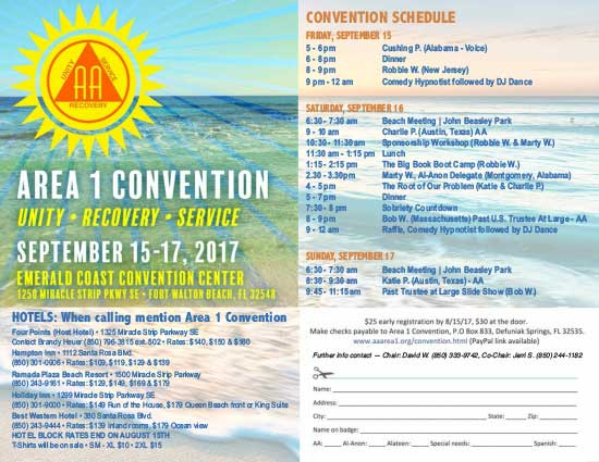 Area 1 Convention Flyer